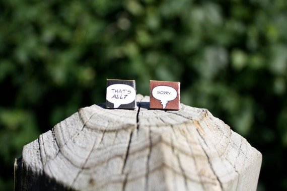 Comic Earrings - That's all, Sorry