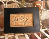 Primitive Stitchery Eternal Family- family, anniversary, wedding, shower, Christmas decorating, gift