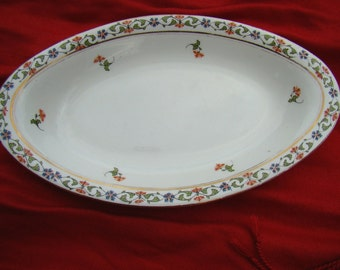 John Maddock and Sons Royal Vitreous China Dish 1920s