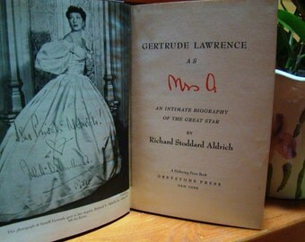 "GERTRUDE LAWRENCE as ""Mrs. A"", 1954 Biography"