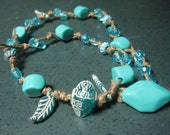 Double Wrap Beaded Bracelet with Turquoise beads