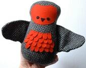 Owl soft toy - handmade stuffed animal, owl softie