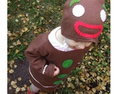 handmade Gingerbread Man costume for baby and toddler