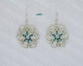 """sterling silver """"HELMS"""" chainmaille  weave   earwire dangle  earrings"""