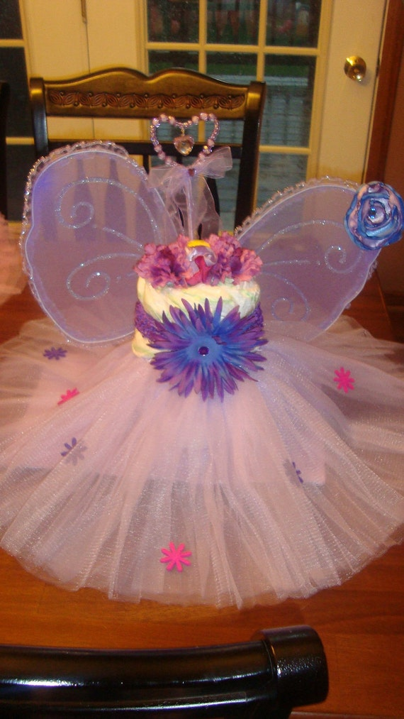Items similar to diaper cake centerpiece tutu princess on etsy