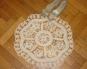 Crochet Rag Rug - Flover rug - finish product