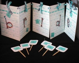 Bride Bingo Banner with Matching Cupcake Toppers
