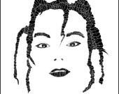 "Bjork Calligram - 10""x10"" print"