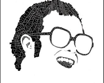 "Elton John Calligram - 10""x10"" print"