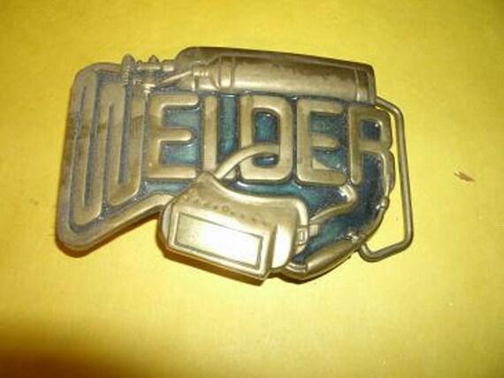 Vintage Welder Belt Buckle