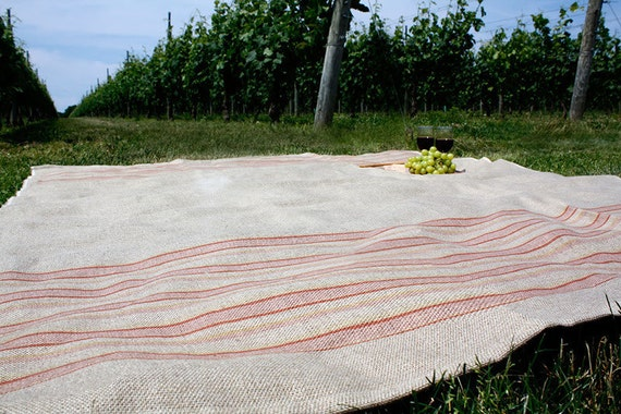 Linen Beach Lawn Towel: Stripes, Girl