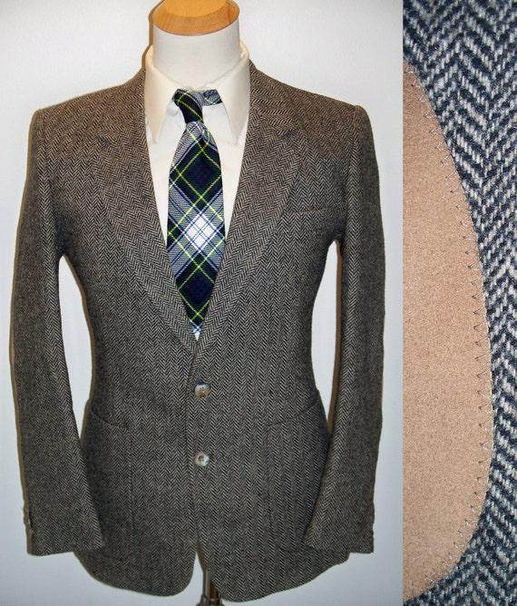 MOD Webster Tweed w Elbow Patches Brown Wool Blazer Sport Coat 40R 40 Regular
