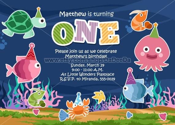 Under The Sea Invitation - Under The Sea Birthday Invitation Printable
