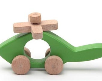 Lovely handcrafted wooden helicopter, natural, organic wooden toys for kids