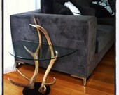 side table lamp table bedside table deer antler this one is sold orders taken