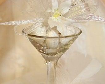 Traditional Wedding Bridal Favor In Mini Martini Glass