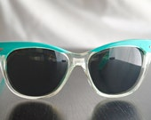 Vintage Polaroid Turquoise Frame Sunglasses, Tortoise Frame, 8608D