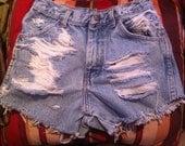 23 / 24 Inch Vintage High Waist Shorts