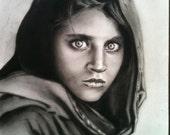 Afghan Girl - Original Drawing 8.5 x 11