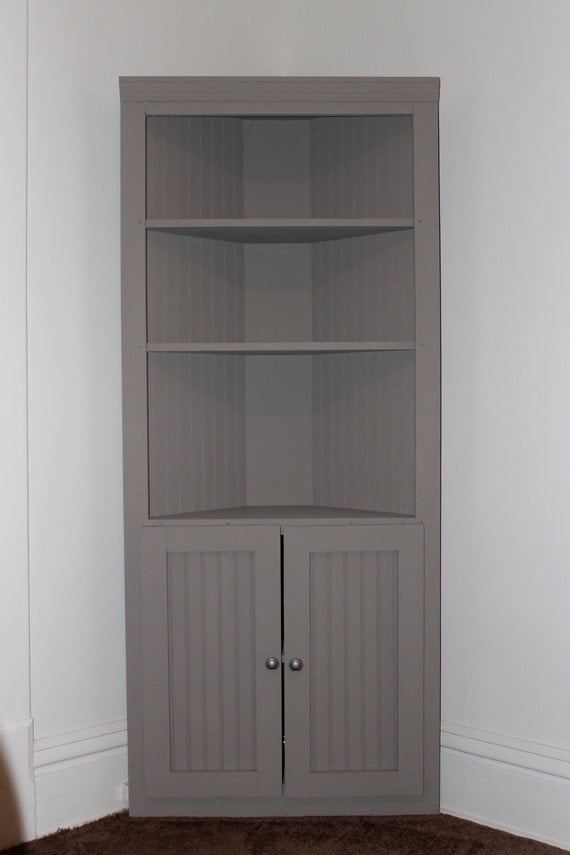 Items Similar To 6 Tall 5 Shelf Corner Cabinet On Etsy