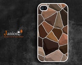 iphone 4 case iphone case iphone 4s case iphone 4 cover  brown black rock  unique Iphone case