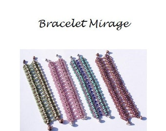 Beading Pattern Bracelet Mirage PDF (English)