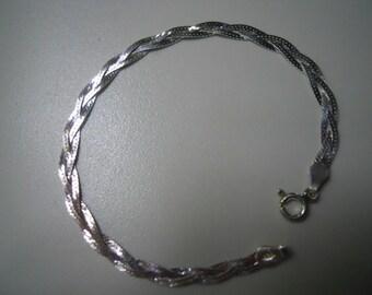 Sterling Silver Braid Bracelet