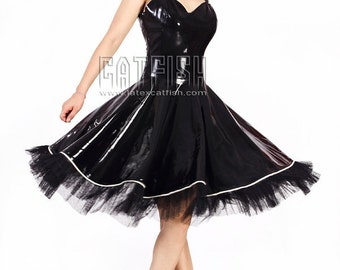 Fashion Lady Latex Evening Dress
