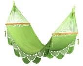 Light Green Hammock, Handwoven Nicaraguan Hammock - veronicacolindres