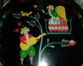 """Vintage """"Romeo and Juliet"""" Inspired Round Tray"""