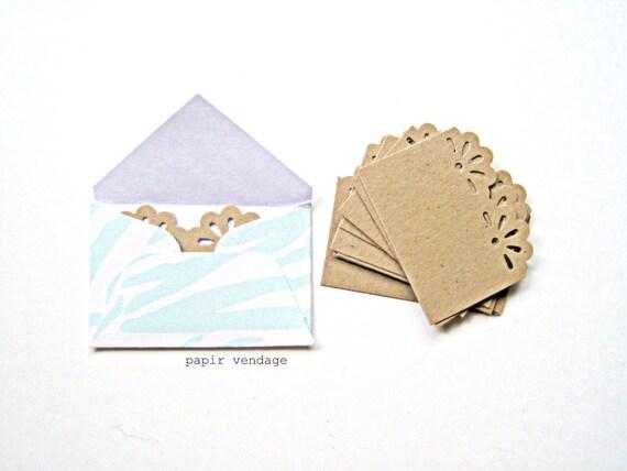 Mint Envelopes, 10 Mini Envelopes in Mint Zebra Print -- Wedding Reception, Special Notes, Party Favors, Scrapbook Delights