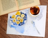 """Print on thick matte paper  """"First tea"""""""
