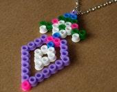 Pixel Diamond Candy Hama Bead Necklace