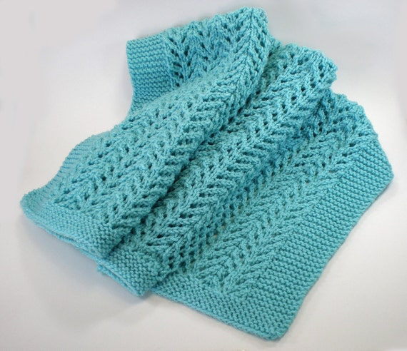 Heirloom knit baby blanket easy care machine washable.