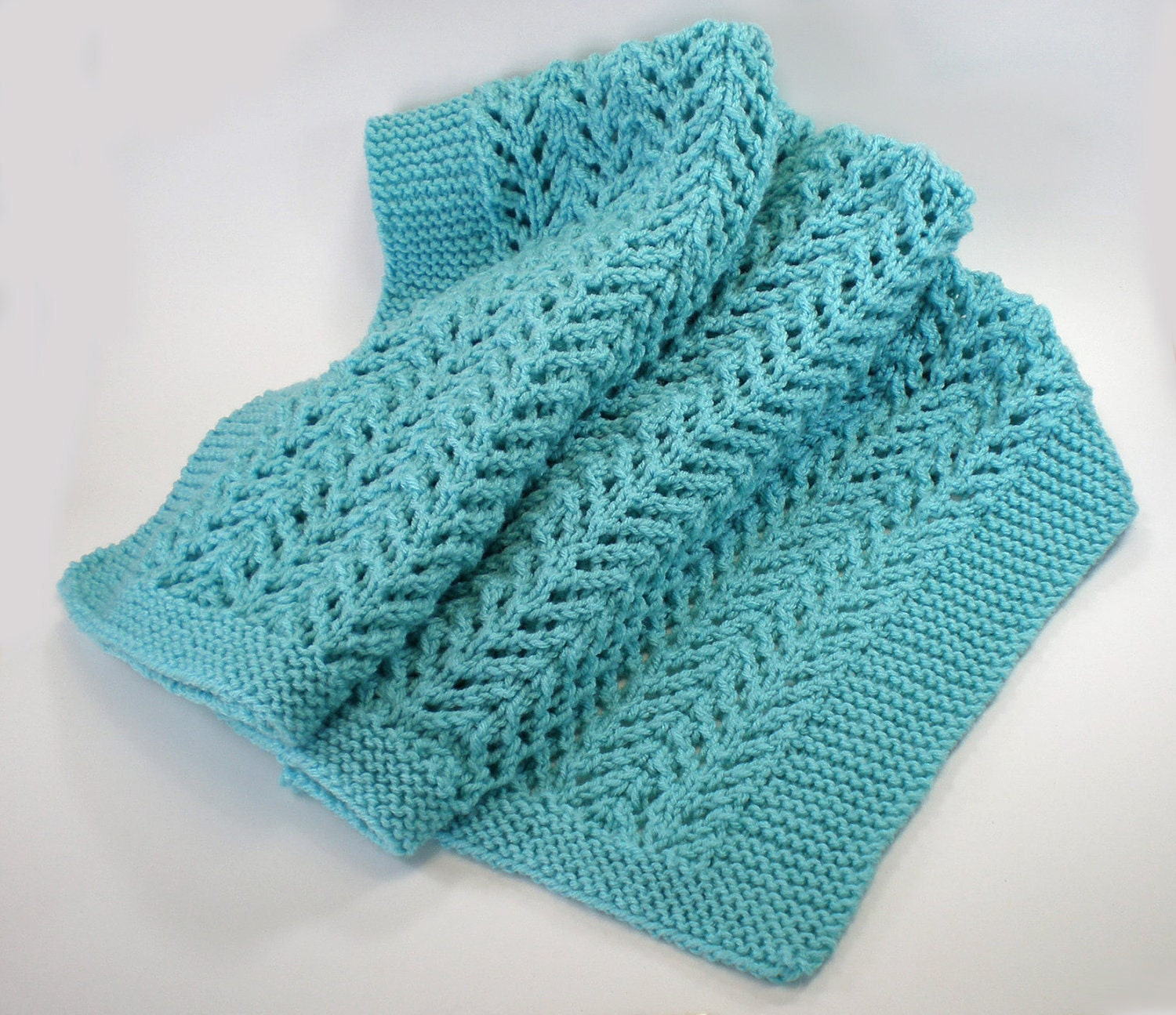 Quick Easy Baby Blanket Knitting Pattern : Heirloom knit baby blanket easy care machine washable.
