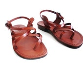 Gladiator Leather Sandal Brown Leather GLADIATOR Style Unisex