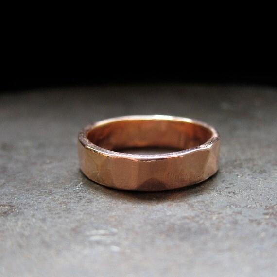 14k rose gold custom wedding band, 5 mm