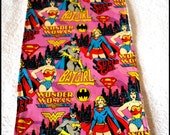 Wonder Woman, Bat Girl and Super Girl Burp Cloth, -- Cotton, Terry Cloth -- Comic -- DC