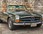 green convertible 1971 mercedes 280sl