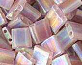 Miyuki Tila Seed Bead (Two Hole) - Matte Transparent Smoky Amethyst AB TL-142FR 10g