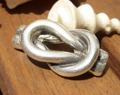 cute marine knot spacer finding sterling silver plated for leather cord