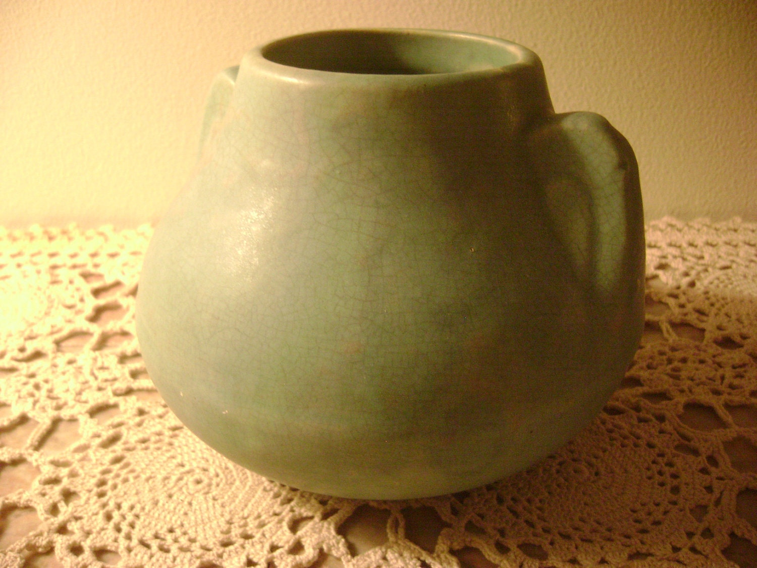 Brush Mccoy Matte Green Art Pottery Art Vellum Glaze Fawn