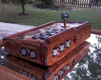 Custom Exotic Hammered Copper Wood Arcade Stick / Fight Stick