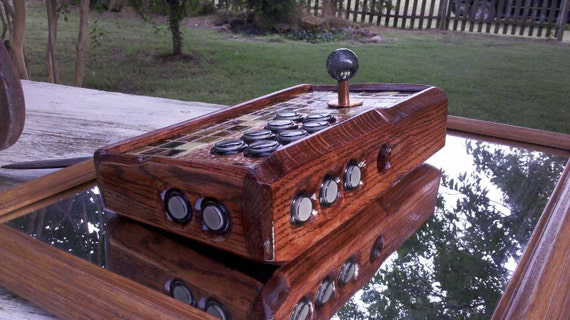 Custom Exotic Hammered Copper Wood Arcade Stick / Fight Stick