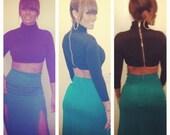 Green maxi Skirt as seen on Basketball Wives Reunion