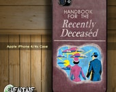 Beetlejuice Handbook for the Recently Deceased Book Funny - iPhone 4 4s Hard Case Cover - Michael Keaton Alec Baldwin