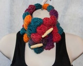 Autumn Colors Cowl 100% Wool from Iceland
