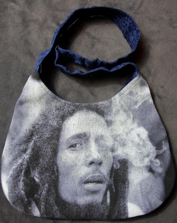 Bob Marley- OOAK Purse - Upcycled Rock T-shirt
