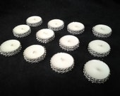 Silver Bling Tealight Candles- Silver Rhinestone Tealights - Wedding or Party Table Decor 50 Pc Lot