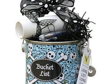 Bucket List Gift in Blue